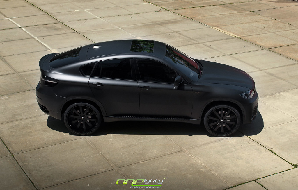 Bmw E71 X6 50 Matte Black By Oneighty Bmw X6 50 Wrapped