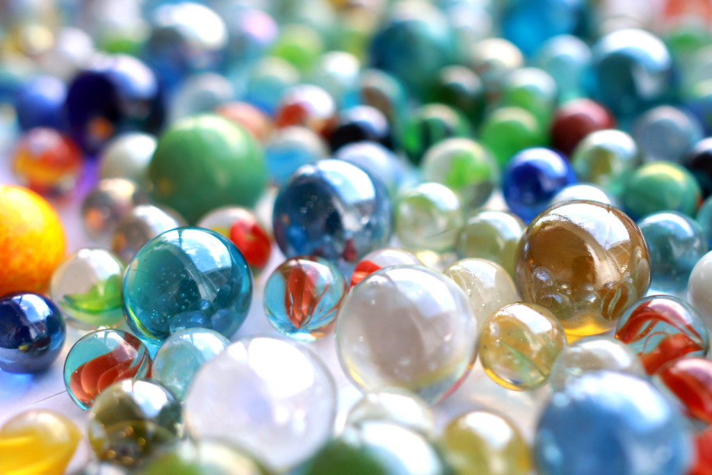 Solid White Toy Marbles : Marbles murmeln iii this image was created by me you