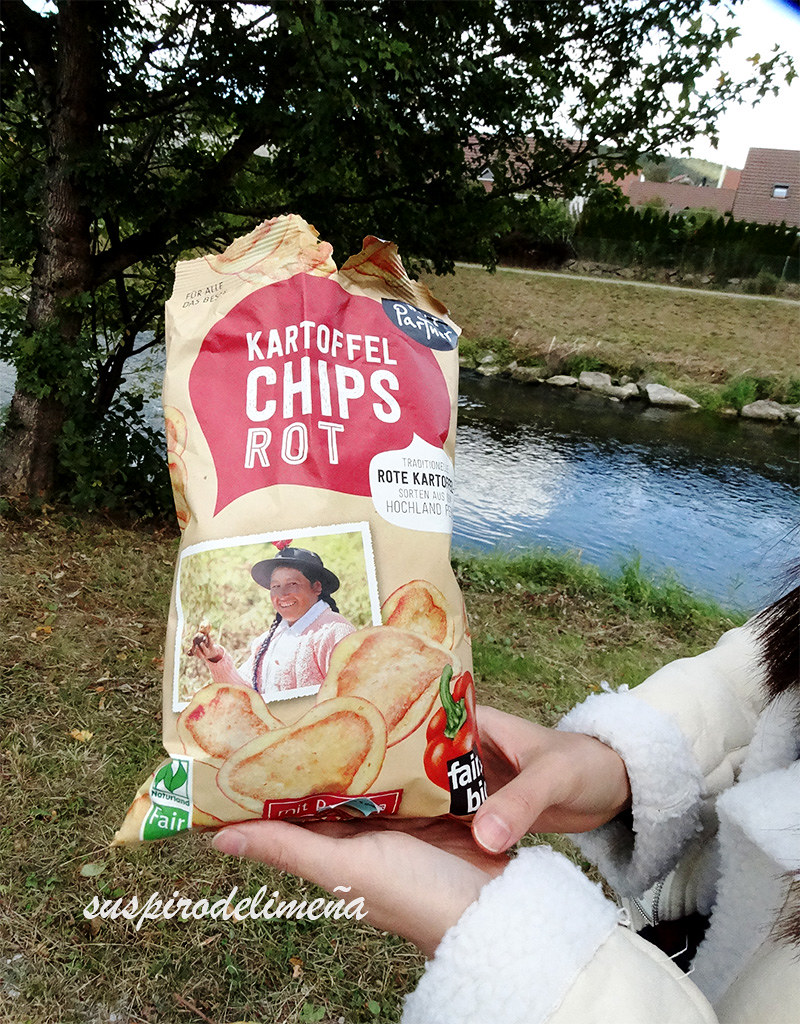 Papa nativa roja chips