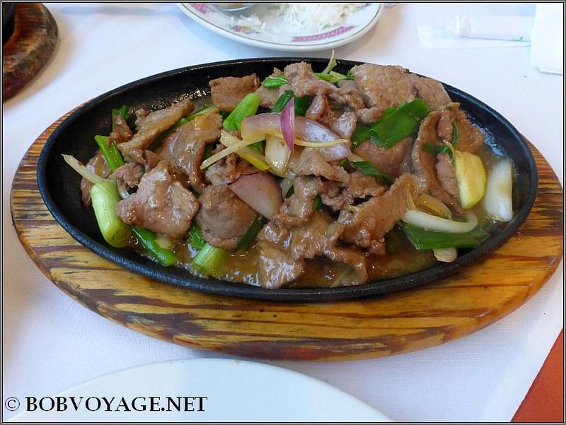 בקר עם בצל ירוק ב- לונג סנג