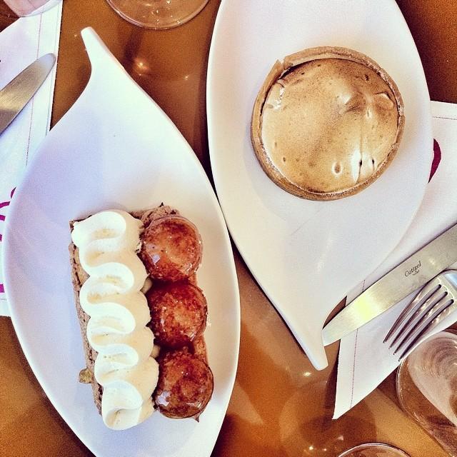 Saint Honoré. Tarte au citron. Goûter w/ @madaboutmacarons Pâtisserie des Rêves, @leBHVMarais #Paris
