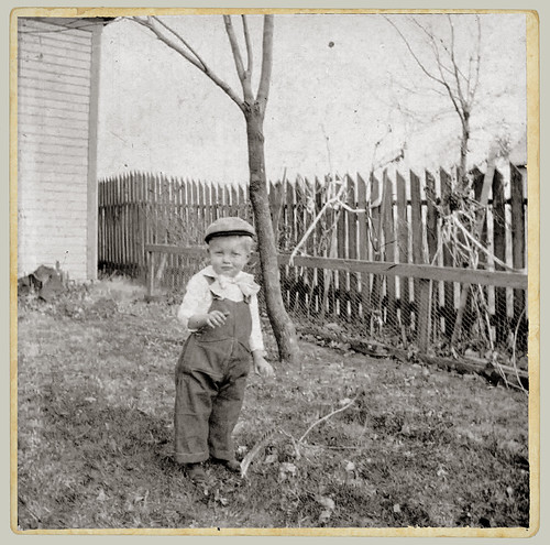 Child and fence