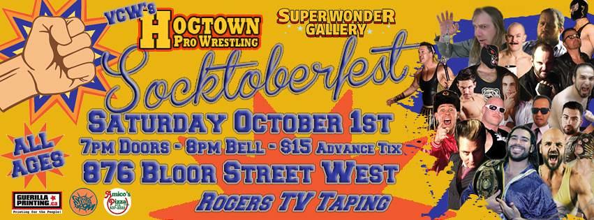 live wrestling in Toronto - socktoberfest