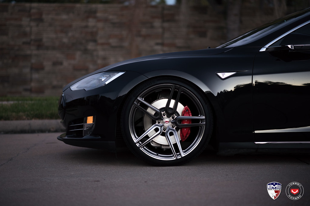 Most Amazing Tesla? Maybe on Vossen Forged All-New HC-1 in