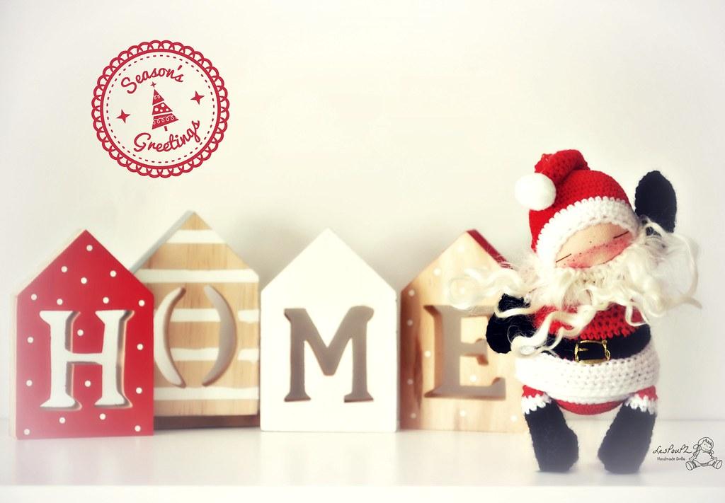 CUSTOM SPOT for a Titi Santa, Christmas Special, Natural Fiber Doll by LesPouPZ Handmade Dolls