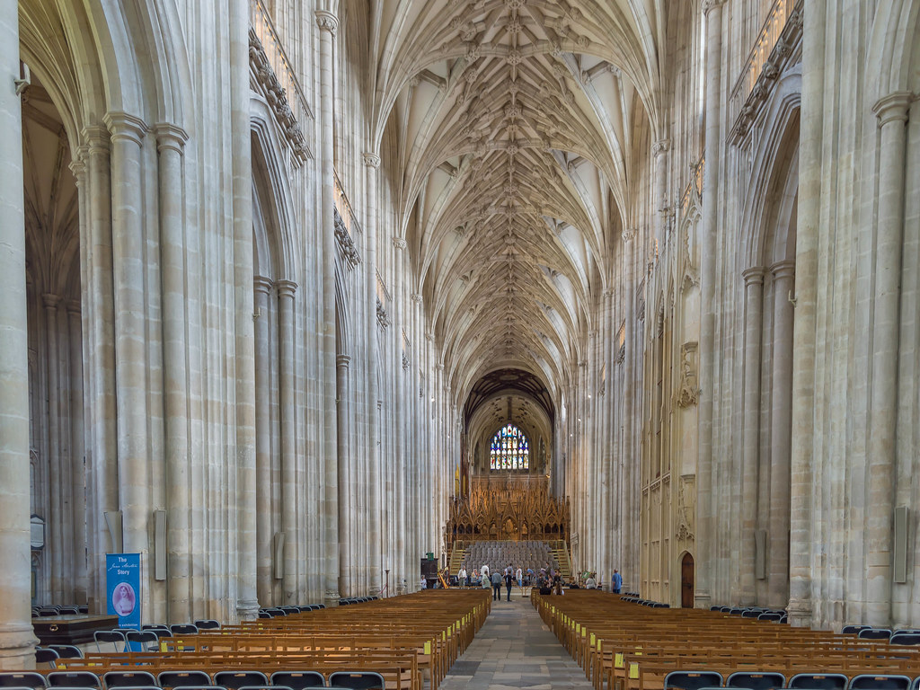Winchester Cathedral Interior Hampshire The Enormous