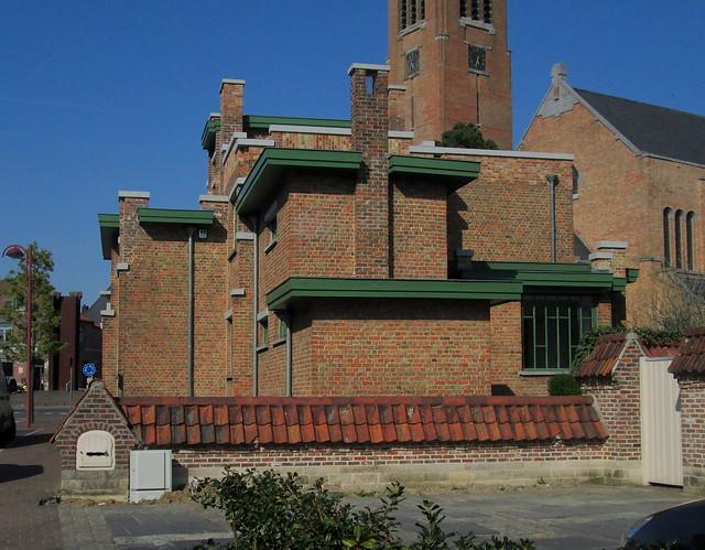 Art Deco Building, Zonnebeeke, Flanders, Belgium