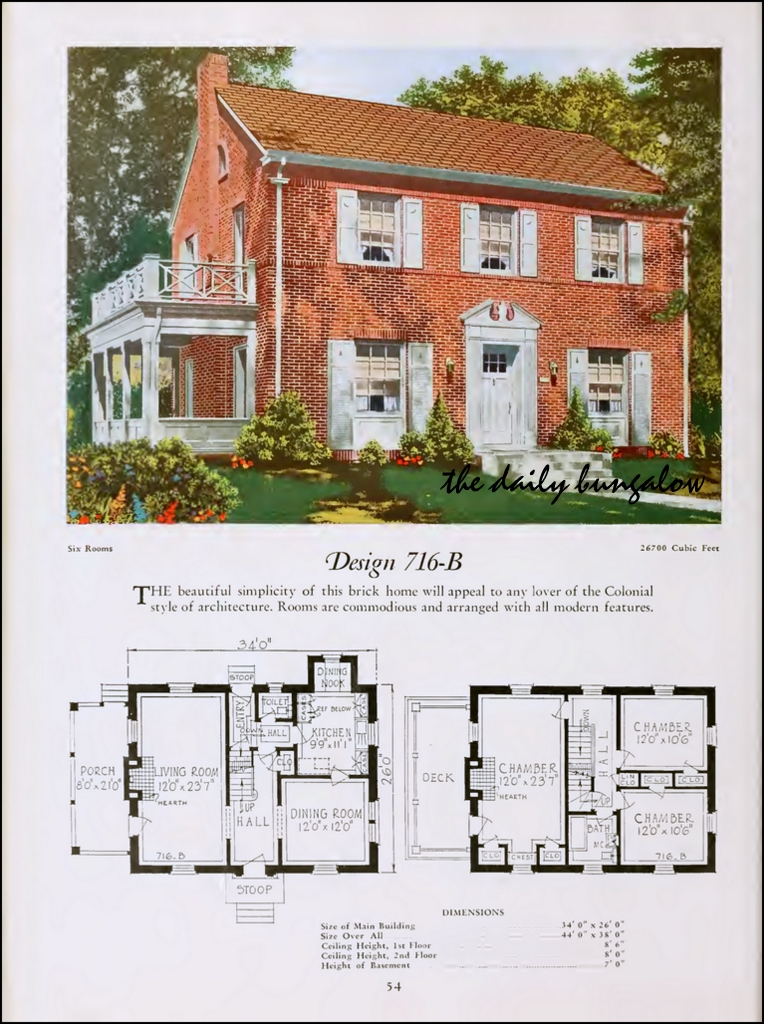 1920 National Plan Service Modern Home Of The Twenties