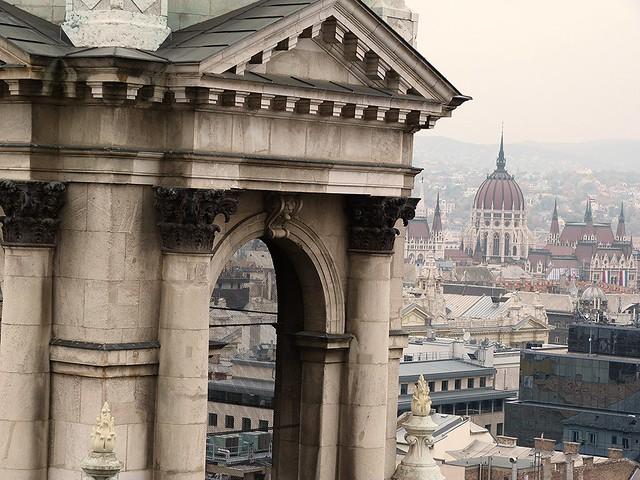 Vistas de Budapest desde la Basílica de San Esteban