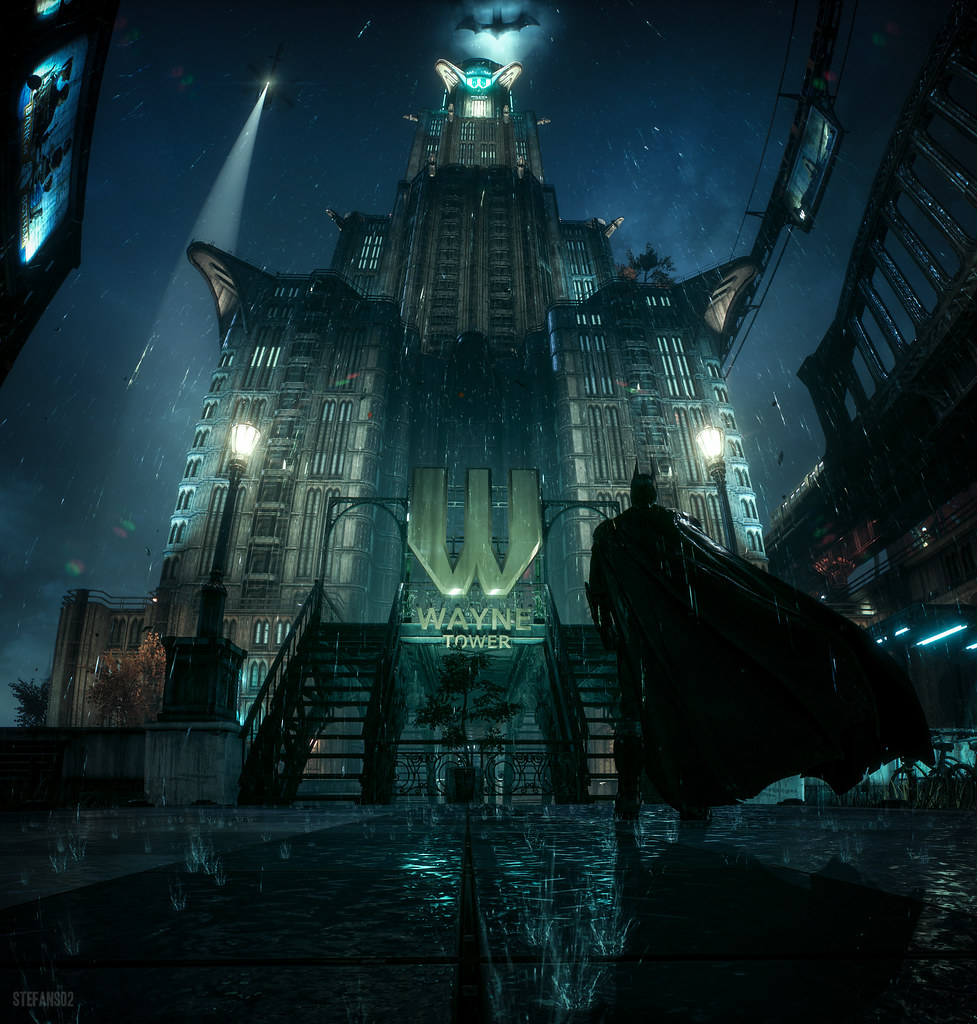 Batman Arkham Knight Batcave: Batman: Arkham Knight / Wayne Tower