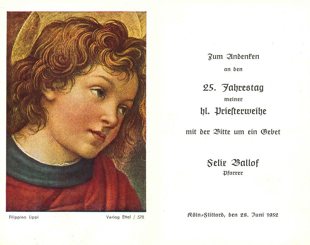 Priesterweihe Ballof, Felix 28.06.1937