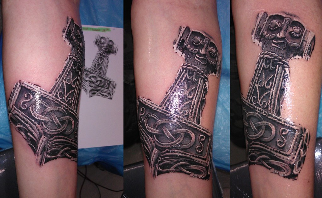 thor's hammer | BL Design Tattoo Studio | Flickr