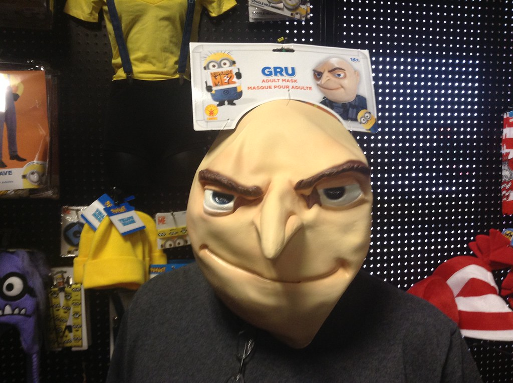 Despicable Me Gru Halloween Mask 2014, Spirit Halloween, b ...