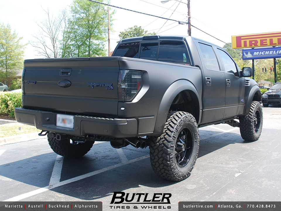 Matte Black Ford Raptor with 20in AE Series 018 Wheels ...