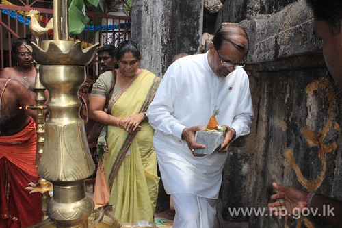 Governor inaugurates the Maviddapuram 'Raja Gopuram' Renovation Work – 17 July 2014