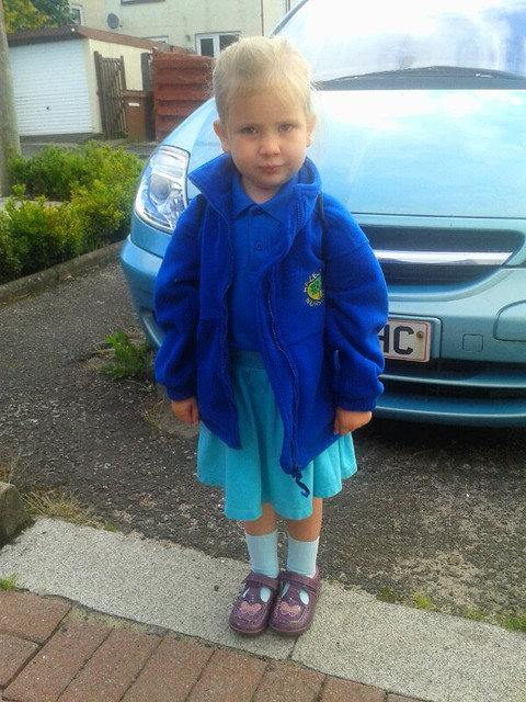 Amaia likes her new nursery jacket