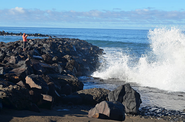 Photgraphing waves, Costa Adeje, Tenerife