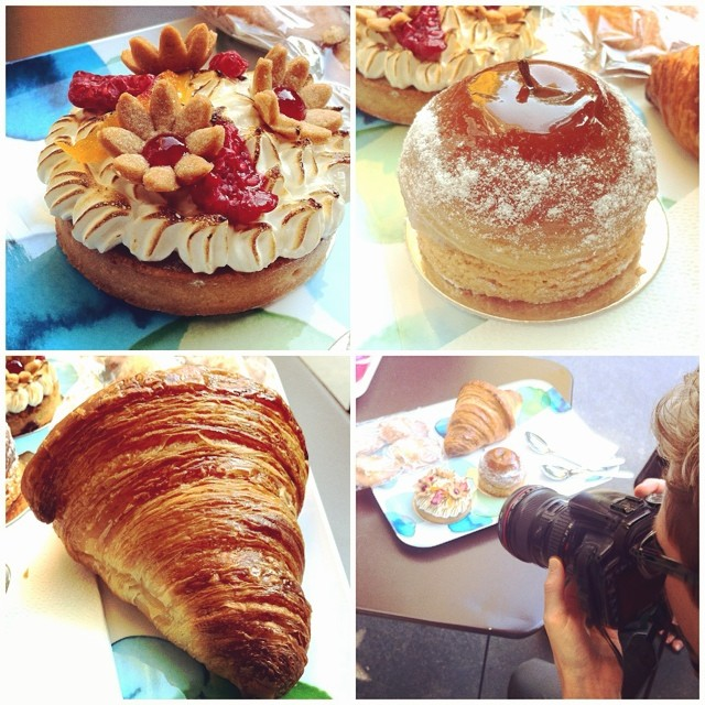 Breakfast in #Paris w/ @stresscake @monicashaw at Blé Sucré. Ahem.
