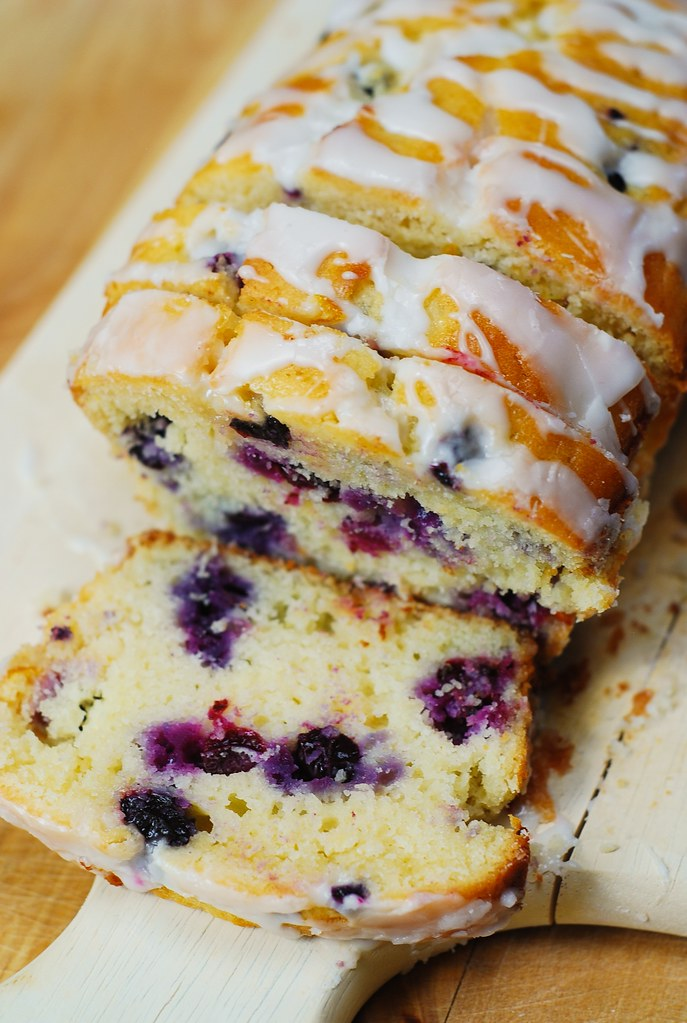 blueberry loaf cake blueberry bread with lemon glaze find the recipe at 1973