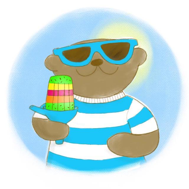 Cool teddy illustration