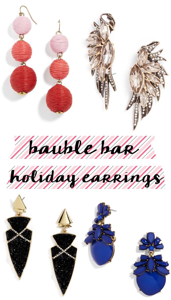 baublebar holiday earrings