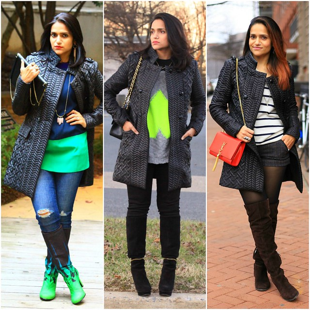 13_Three Ways To Style A Black Poufer Jacket Tanvii.com