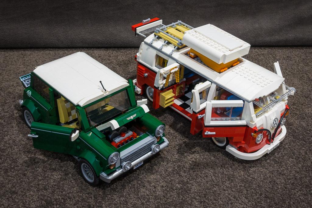 lego mini cooper and vw camper van comparision between. Black Bedroom Furniture Sets. Home Design Ideas