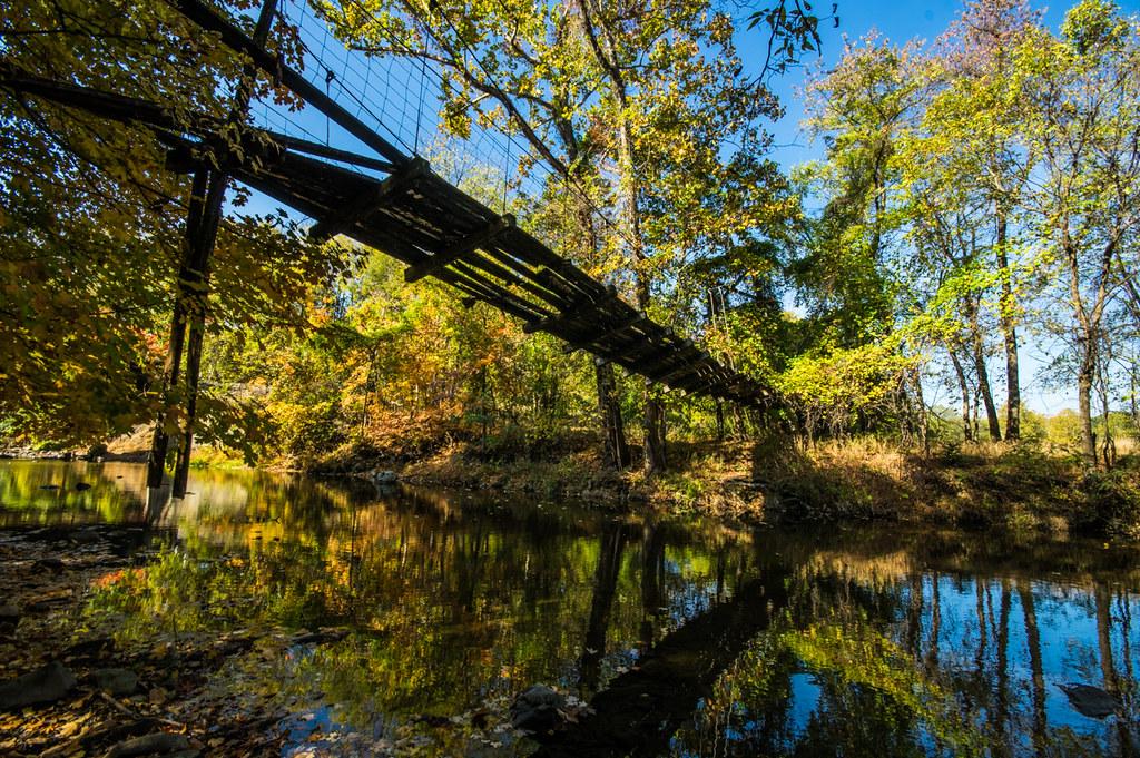 Old walkway across Spring Creek