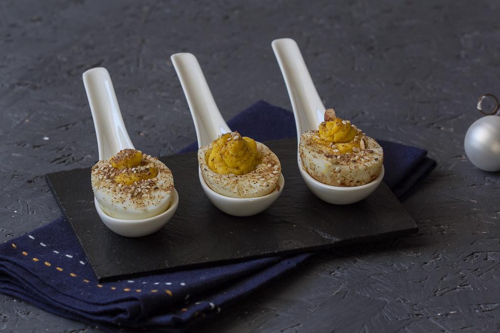 Dukkah gefüllte Eier-2