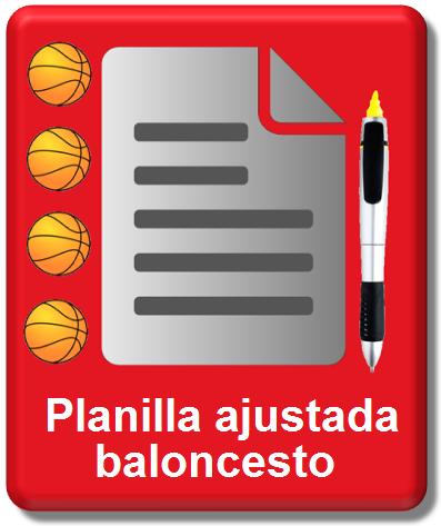 Icono planilla ajustada baloncesto