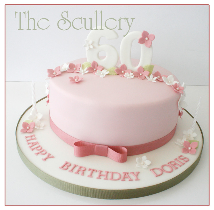Ladies 60th Cake The Scullery (Louise) Flickr