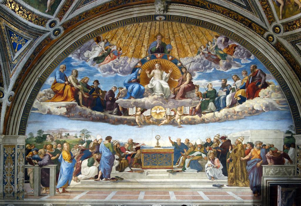 Raphael, Disputa | Raphael, Disputa, fresco, 1509-1511 ...