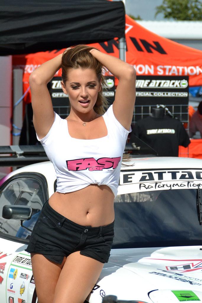 daisy watts glamour girl working for fast car magazine dur