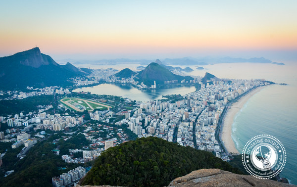 Two Brothers Mountain Over Vidigal Rio de Janeiro