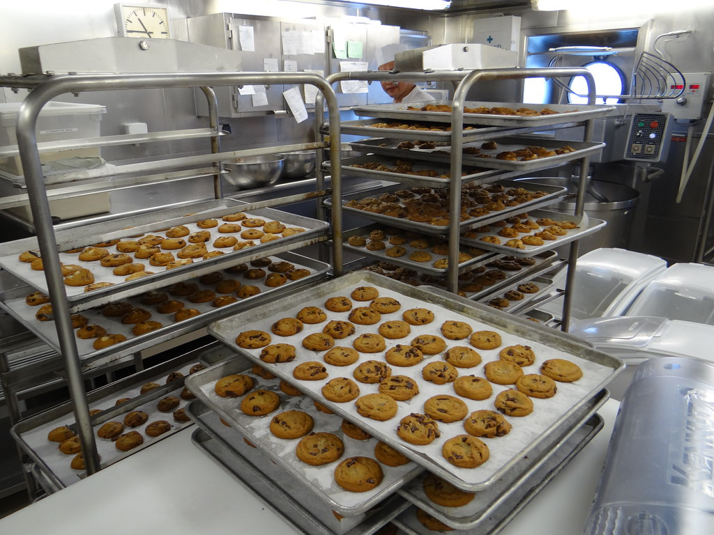 crystal serenity cruise ship bakery   kitchen galley tou