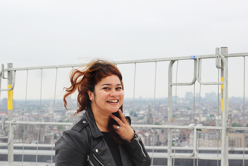 A'DAM Toren Amsterdam windblown hair