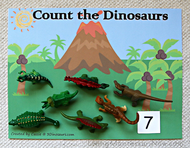 Count the Dinosaurs Layout