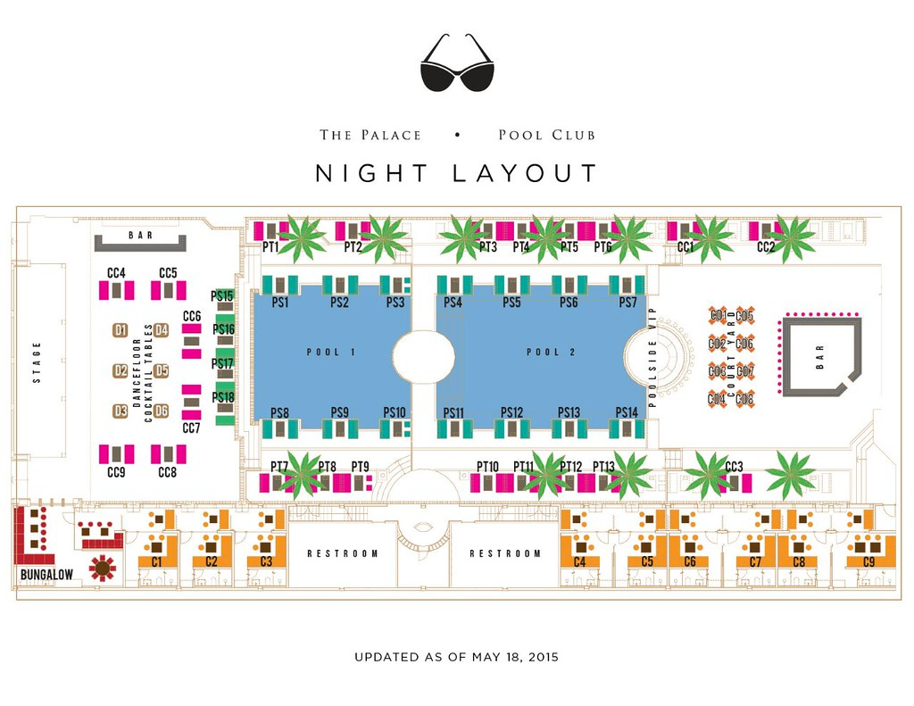 Friday and Saturday Layout