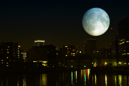 Ultra super moon image