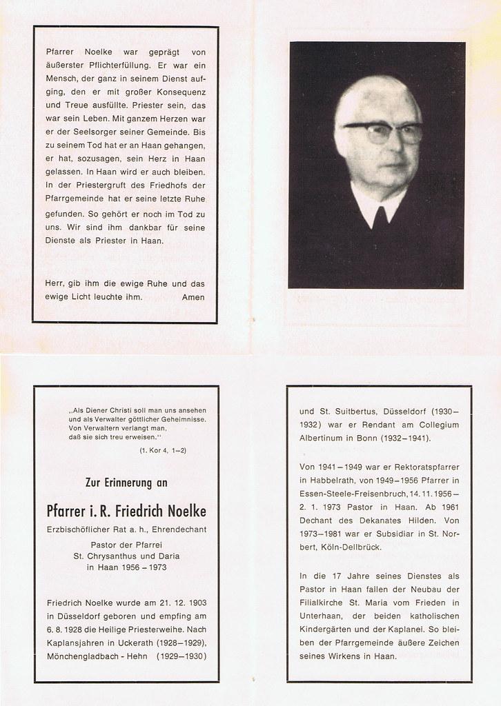 Totenzettel Noelke, Friedrich geb. 21.12.1973