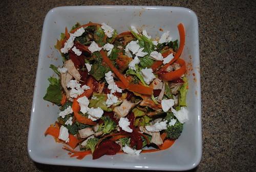 Chicken, Feta, and Hummus Salad (4)