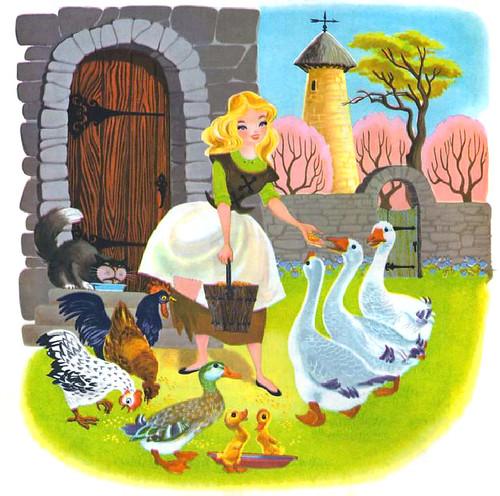 Cinderella Feeding Animals