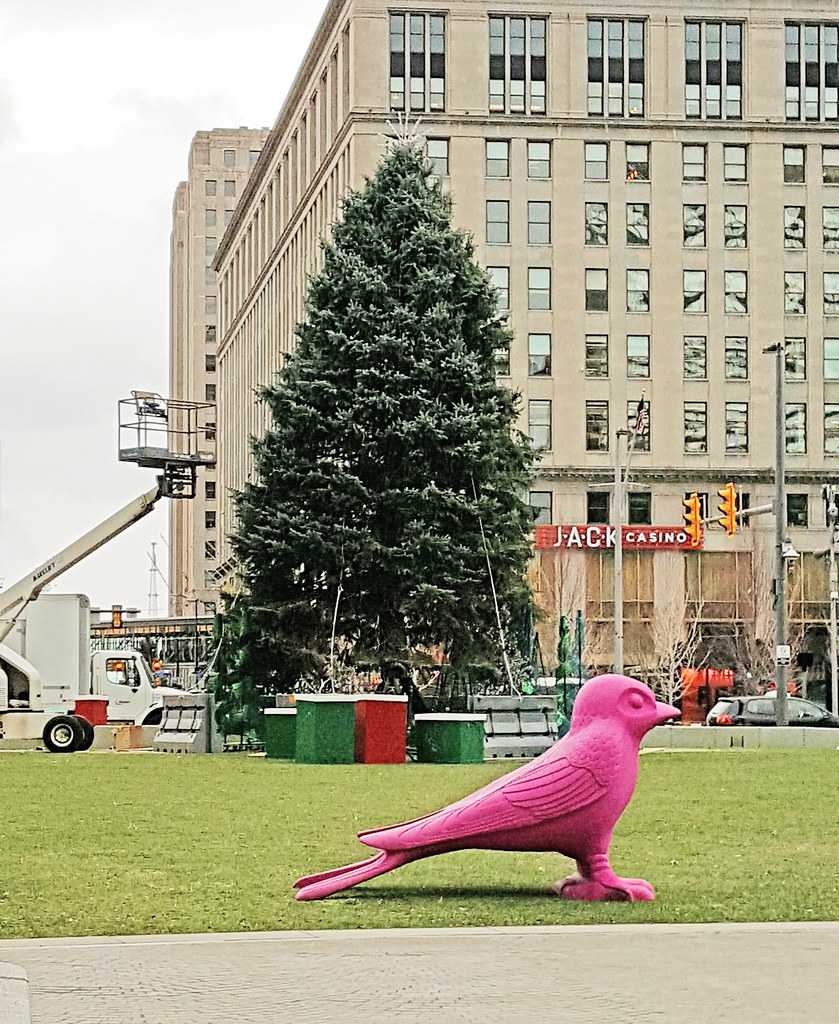 Christmas Lights On Cleveland Public Square: Christmas Tree Going Up In Public Square 01
