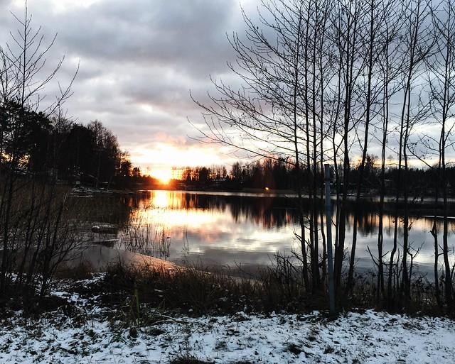 sunset, luonto, nature, auringonlasku, winter, talvi, life, järvi, lake, suomi, finland, weekend, highlights, viikonloppu, kohokohdat, taivas, sky, lumi, snow,