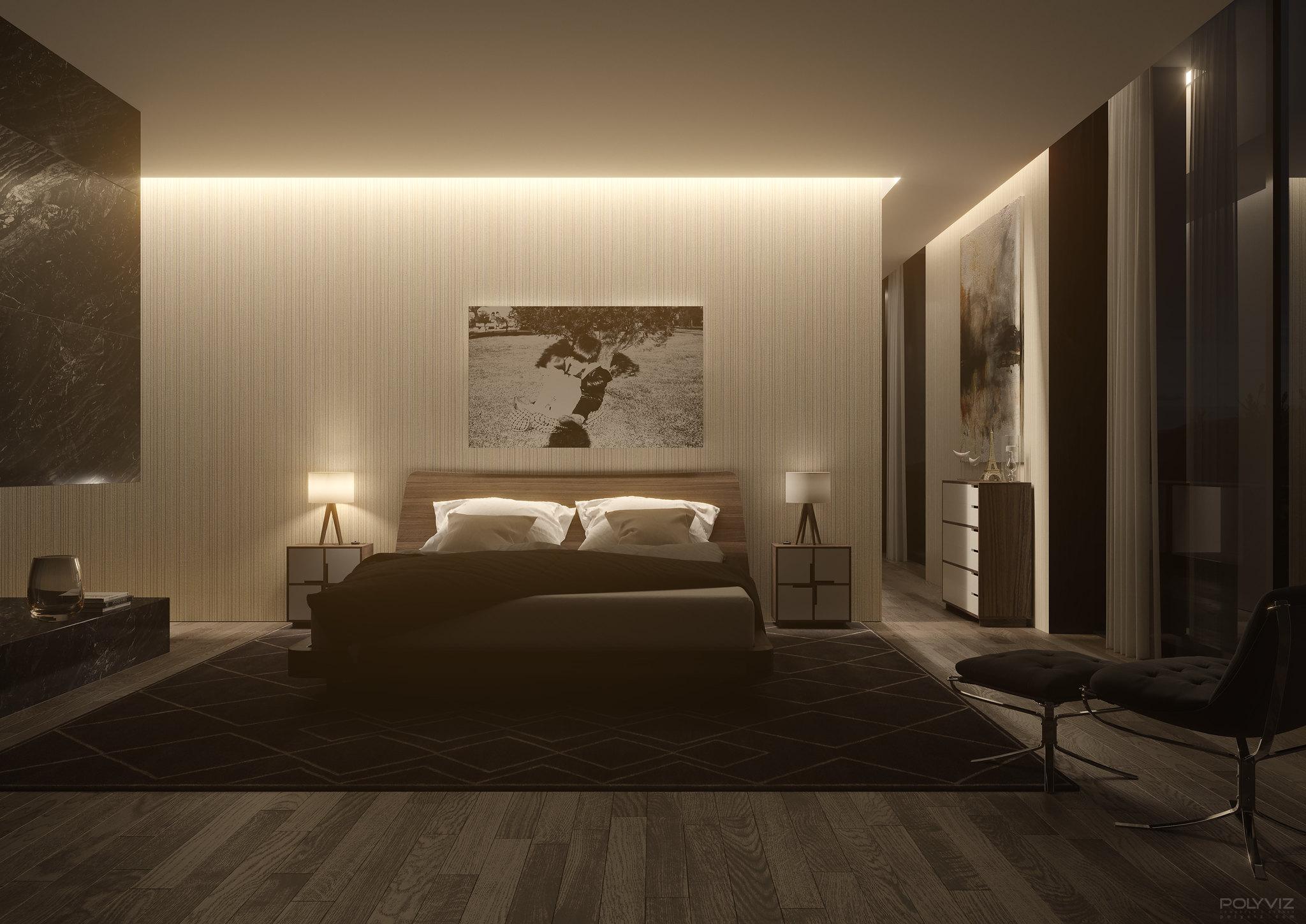 Polyviz nordic bedroom day night for Bedroom night