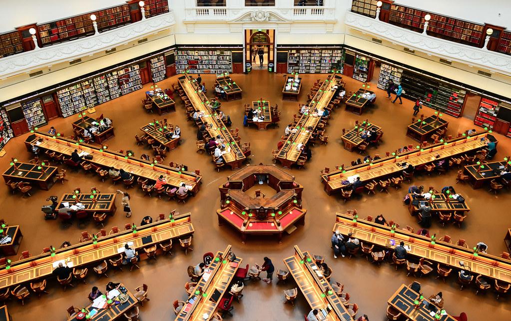 State Library Of Victoria La Trobe Reading Room Open Ho