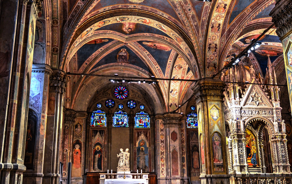 Orsanmichele Interior Built In 1337 It Is Almost Hard