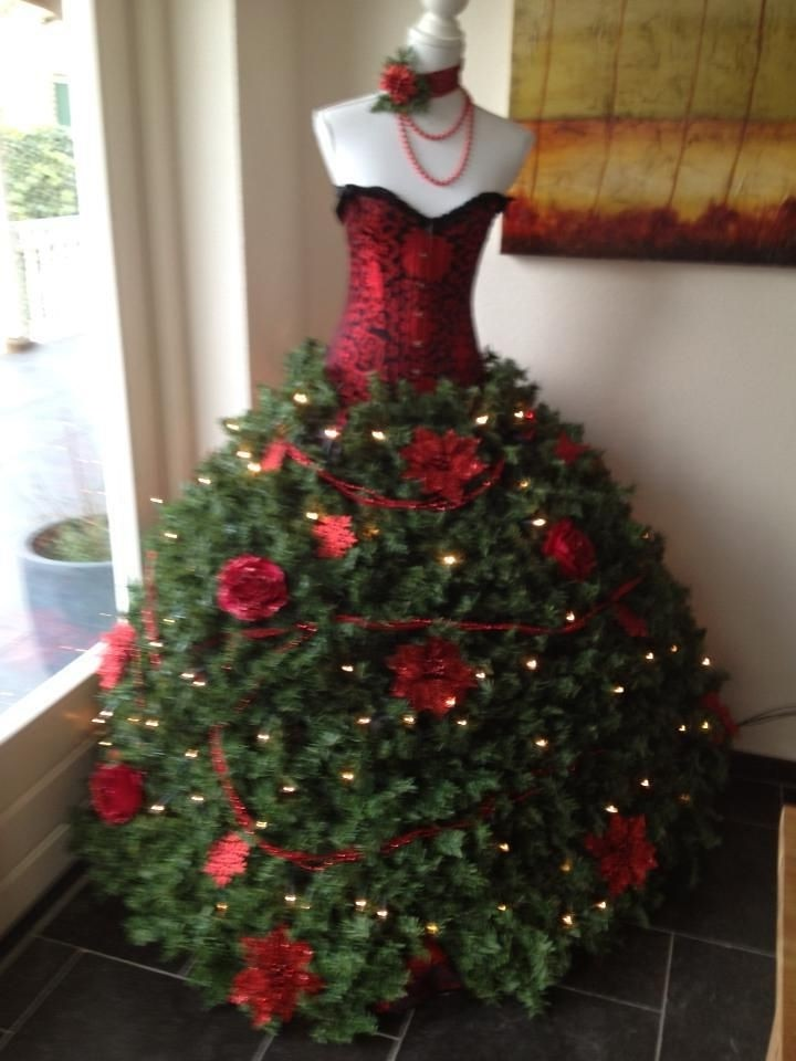 Mannequin Christmas Tree Christmas Tree Dress Christmas Tr