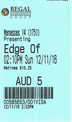 The Edge of Seventeen ticketstub