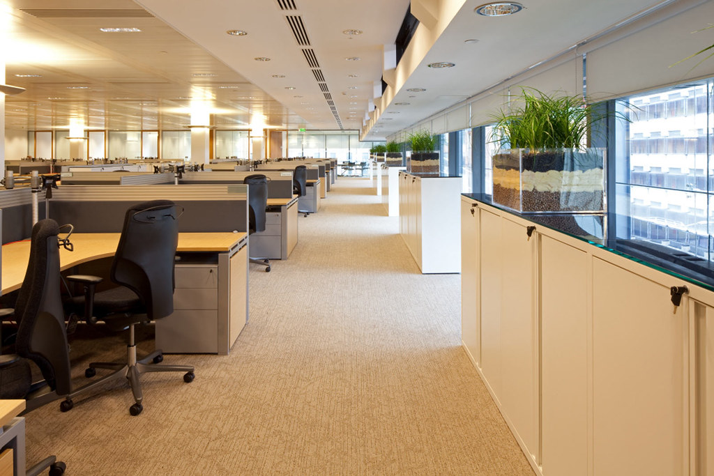 Rbc 04 Open Plan Office Layout At The Rbc Capital
